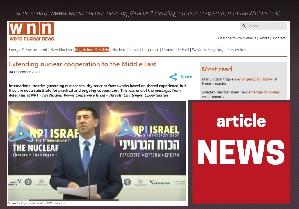 World Nuclear News: Extending nuclear cooperation to the Middle East
